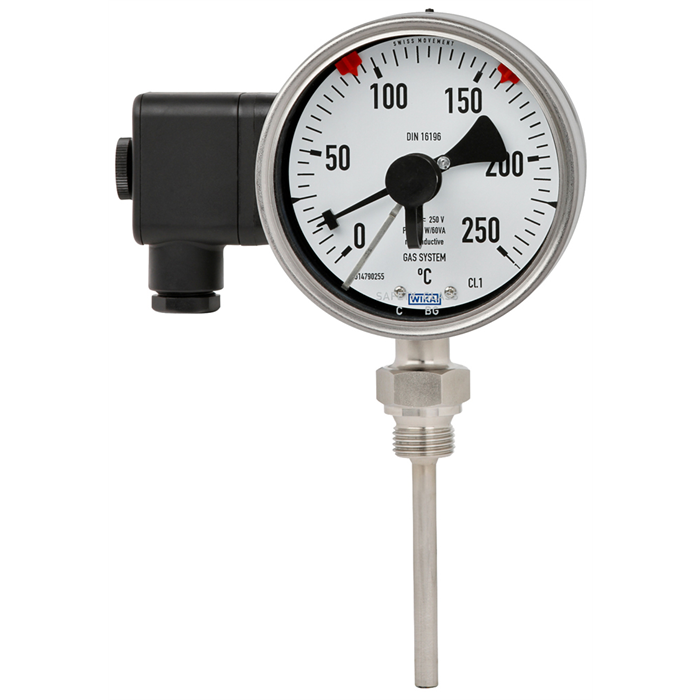 Mechanical gas actuated thermometers now available with reed contacts