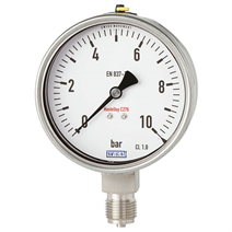 Bourdon tube pressure gauge, Hastelloy