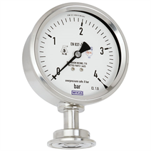Flush diaphragm pressure gauge