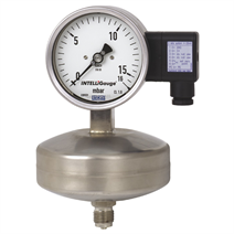 Capsule pressure gauge with output signal